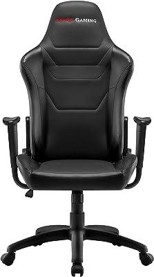 Mars Gaming MGC218 - Silla profesional, tecnología AIR, reclinable 180°, negro