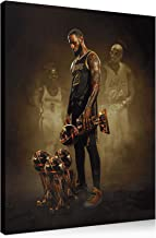 LeBron James Championship Memorial Kobe and Gigi Basketball Poster High Definition Canvas Wall Art Print Large Size Poster...