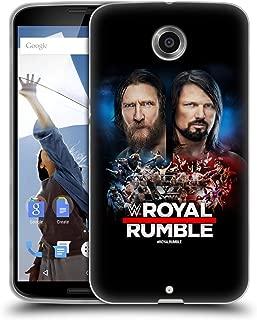 Official WWE Daniel Bryan and AJ Styles 2019 Royal Rumble Soft Gel Case Compatible for Motorola Nexus 6 / Nexus X