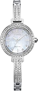 Ladies' Citizen Eco-Drive Silhouette Crystal Stainless Steel Watch EM0860-51D