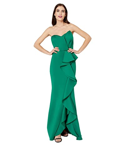 Badgley Mischka 3D Cascade Drape (Green) Women