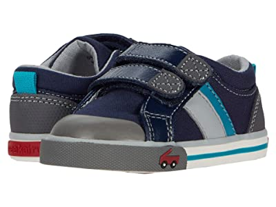 See Kai Run Kids Russell (Toddler/Little Kid) (Navy/Teal) Boys Shoes
