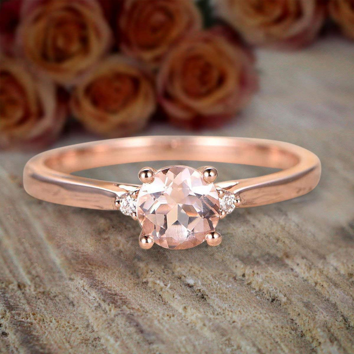 Max 82% OFF Limited Time Sale Trilogy Three Stone 1.10 D Morganite Opening large release sale carat and