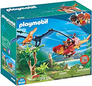 Playmobil Dinos Adventure Copter With Pterodactyl, Multi-Colour, 9430