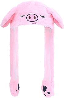 Sponsored Ad - Calvertt Funny Halloween Costume Movable Animal Ear Hat Dress up Cosplay