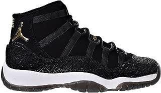 Air 11 Retro Premium HC Big Kids' Basketball Shoes Black/Gold-White 852625-030 (8.5 M US)