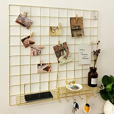 MONODY Rejilla de Fotos decoraci/ón Pared Forma de coraz/ón Moderno Minimalista estantes Nordic Hierro Plancha Clip Photo Pared 50/cm 50/cm