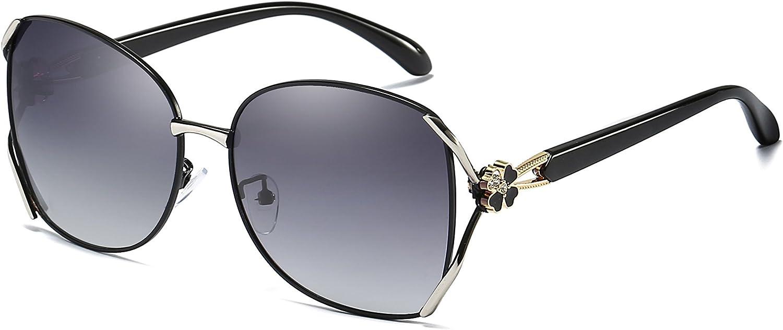 Classic Fashionable Oversized Polarized Sunglasses for Women 100% UV Predection