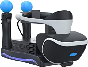 Skywin PSVR Stand - Charge, Showcase, and Display Your PS4 VR Headset and Processor - Compatible with Playstation 4 PSVR - Showcase and Move Controller Charging Station
