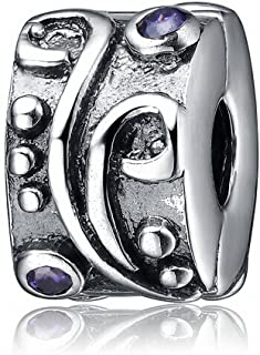 Soulbeads Clip Lock Beads Authentic 925 Sterling Silver Charm Fit European Style Bracelets