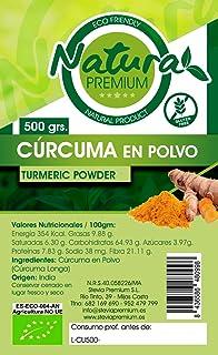 Natura Premium Curcuma En Polvo 500 Grs Bio 500 g