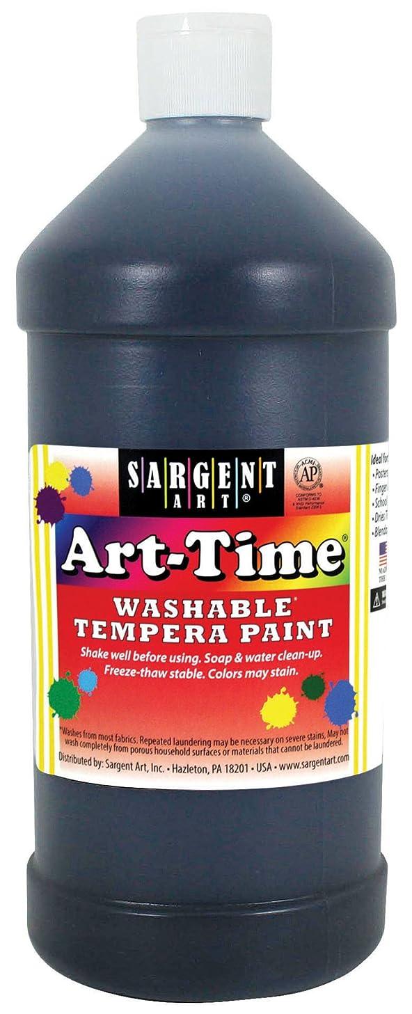 Sargent Art 17-3585 32 oz Black Art-Time Washable Tempera Paint