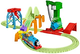 Thomas & Friends Trackmaster Hyper Glow Night Delivery Playset GGL75, Thomas the Tank Engine & Friends, Glowing Track Piec...