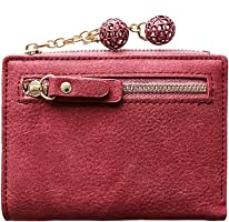 Pausseo Women Multifunctional Simple Variable Color Short Wallet Coin Purse Wallet Change Pouch Clutch Package Storage Portable Travel Shopping Handbag Holder Zipper Makeup Packet