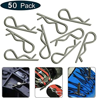 KCRTEK 50-Pack Universal RC Body Clips for All 1/10 1/12 Scale Redcat HPI Himoto HSP Exceed RC Car Parts Truck Buggy Shell Replacement