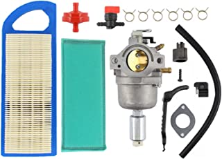 Carburetor & Air Filter Fuel Filter Shut Off Valve Carb for Briggs & Stratton 698620 799727 794572 791858 792358 793224 697190 697141 14hp 15hp 16hp 17hp 17.5 HP 18hp Craftsman Lawn Tractor Mower