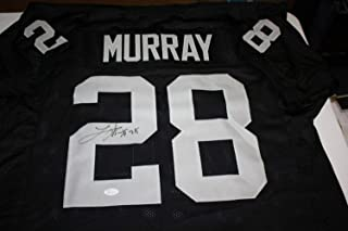 Oakland Raiders Latavius Murray Autographed Signed Memorabilia Home Jersey 2016 All Pro JSA Witness