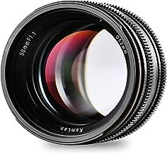 Kamlan 50mm F1.1 APS-C Large Aperture Manual Focus Lens, Standard Prime Lens for Sony E-Mount Mirrorless Camera, Alpha Series and NEX Series