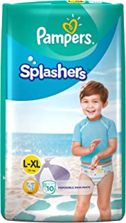 Pampers Splashers Disposable Swim Pants Diapers, X-Large, (Pack of 10)