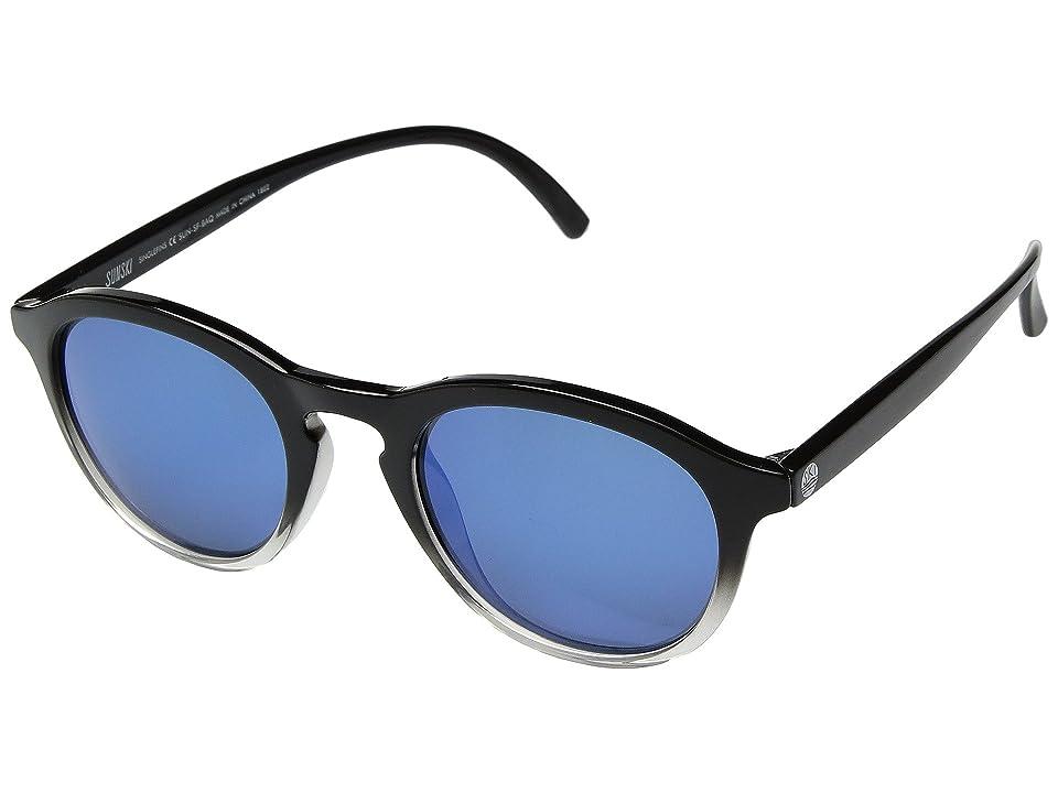 Sunski Singlefin (Black/Aqua) Sport Sunglasses