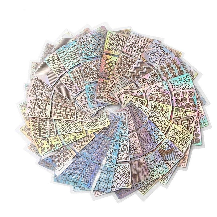 インタビュー暴力的な飼い慣らすTianmey 24スタイルDIYポーランド転送ネイルアートステンシルテンプレートスタンピング中空ステッカービニールマニキュア画像ガイド美容ツール