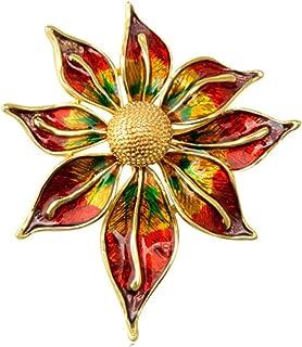 Spille grandi in oro per le donne Spilla a fiore Cappotto con colletto Broche Hijab Pins Pianta Nuova spilla