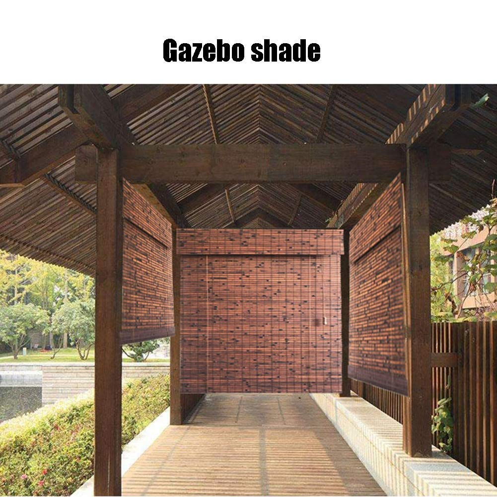 Roller Shade Persianas de bambú Cortinas romanas Gazebo exterior ...