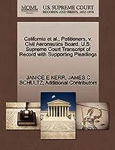 California et al., Petitioners, v. Civil Aeronautics Board. U.S. Supreme Court Transcript of Record with Supporting Pleadings