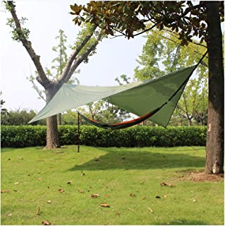 comprar comparacion crayfomo Ultralight Tent Lona Impermeable Anti-UV Gran Verde Hamaca Lona portátil Sol Lluvia Refugio Mochila Camping Rainf...
