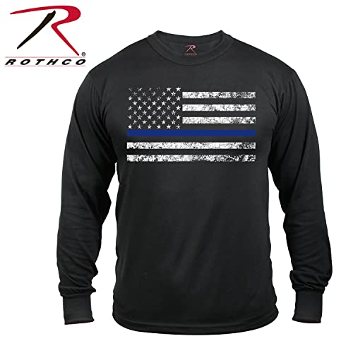 8f9a8b23 Rothco Long Sleeve Thin Blue Line T-Shirt