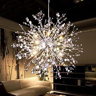 GDNS 8 Pcs Lights Chandeliers Firework LED Light Stainless Steel Crystal Pendant Lighting Ceiling Light Fixtures Chandeliers Lighting,Dia 19.6 inch