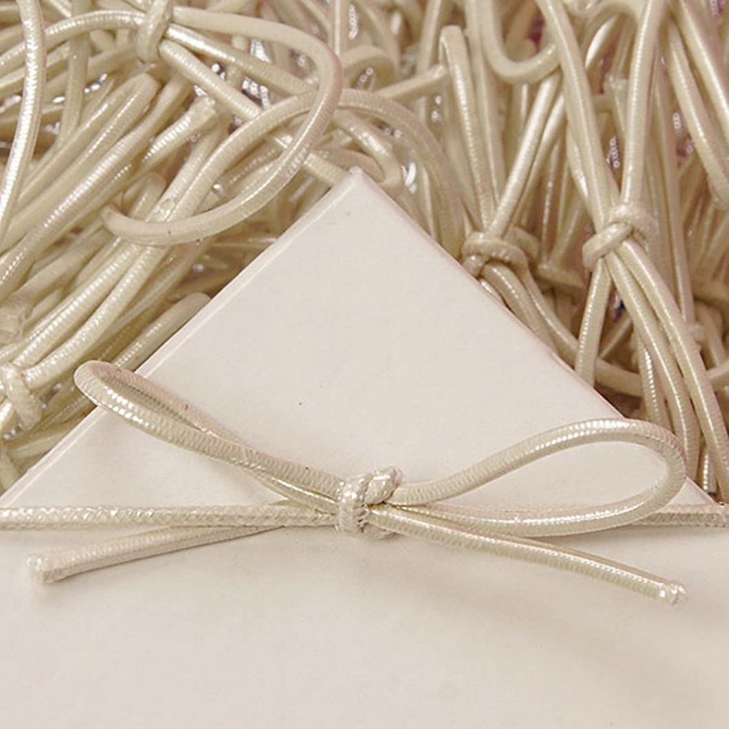 8 Inch Pearl White Stretch Loops - 50 Pack dbirfdy40