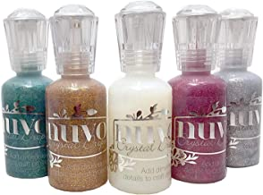 Nuvo Bundle of 5 Glitter Drops - Ruby Slipper, Emerald City, Golden Sunset, Silver Moondust and White Blizzard