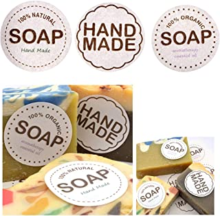 CHAWOORIM Hand Made Soap Wrapping Labels - Home Made Soap Stickers 3Kind Desinged DIY Soap Making Supplies