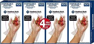 Member's Mark Plastic Disposable Gloves Pack 4 (500 CT)