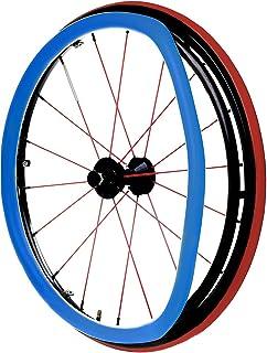 Wheelchair Push Rim Covers, 24-Inch Rear Wheel Sports Wheelchair Cover, Non-Slip Wear-Resistant Hand Push Cover,D