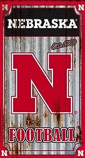 Team Sports America Nebraska Cornhuskers Corrugated Metal Wall Art