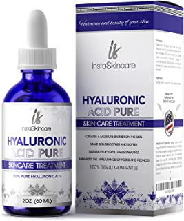 Hyaluronic Acid for Face - 100% Pure Medical Quality Clinical Strength Formula - Anti aging serum for your skin and lips (...