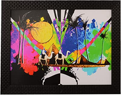 eCraftIndia 'Desert View' UV Art Painting (Synthetic Wood, 36 cm x 28 cm, Satin Matt Texture)