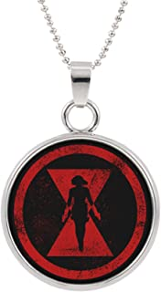 Black Widow Fashion Novelty Pendant Necklace Movie Comic Series with Gift Box