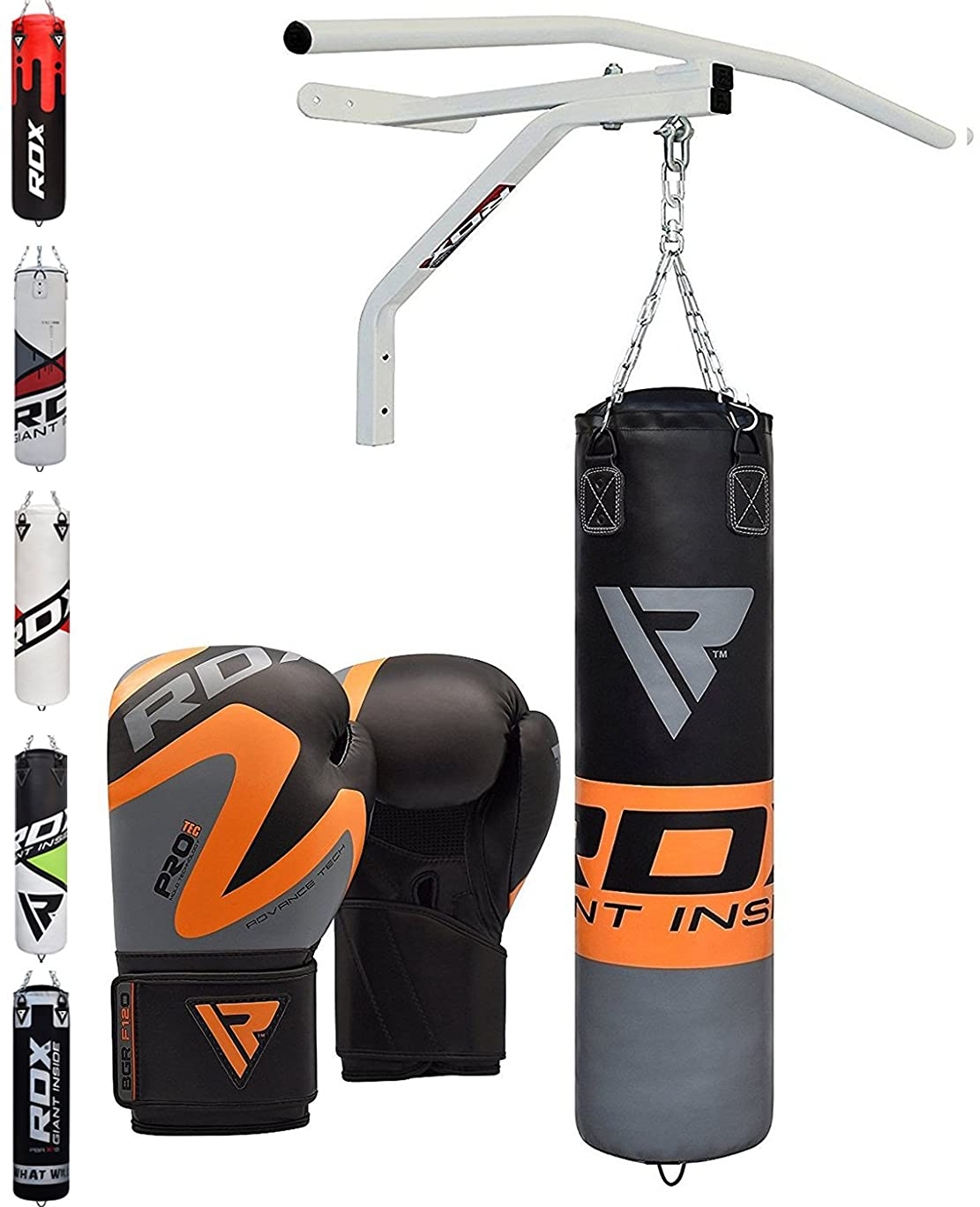Authentic RDX Leather MMA Grappling Gloves Fight Boxing Muay Thai Punch Bag Mitts Red