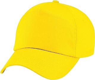 Beechfield Plain Unisex Junior Original 5 Panel Baseball Cap (One Size) (Yellow)