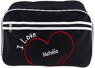 Diseño de bolso bandolera I Love Natalia colour negro