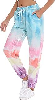 Pantalones de Pijama para Mujer, Pantalon Largos de Estampados de Cintura Alta Elastica,Casual Pantalón de Chándal con Bolsillos,Tallas Grandes Pants por Casa Otoño Invierno