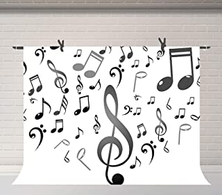 FUERMOR Background 7x5ft Music Note Photography Backdrop Studio Photo Props GEFU804