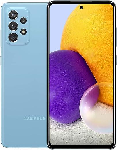 سامسونج جالكسي ايه 72، ثنائي شرائح الاتصال، بسعة ذاكرة 128 GB وذاكرة RAM 8 GB، يدعم شبكة 4G LTE، (نسخة المملكة العربية السعودية)، لون ازرق