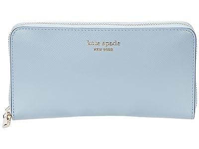 Kate Spade New York Spencer Zip Around Continental Wallet (Horizon Blue) Wallet