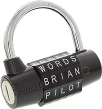 Wordlock PL-004-BK 5-Dial Combination Padlock, Black