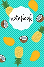 Notebook: Funny Mango Pineapple Coconut Design Summer Feeling, 110 lined pages, 6x9