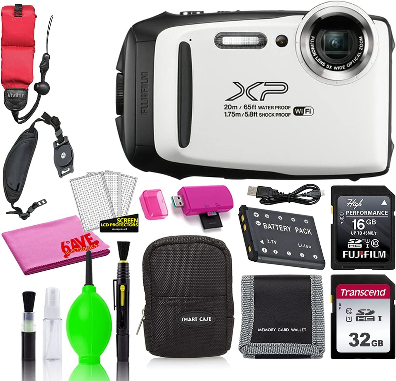 Nippon regular agency Fujifilm FinePix XP130 Waterproof Digital Accesso White Camera New arrival